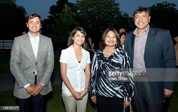 Heeva Sidhu and Lakshmi Mittal at the Mittal Trust Champions Event at The Serpentine Gallery on July 23 2012 in London England