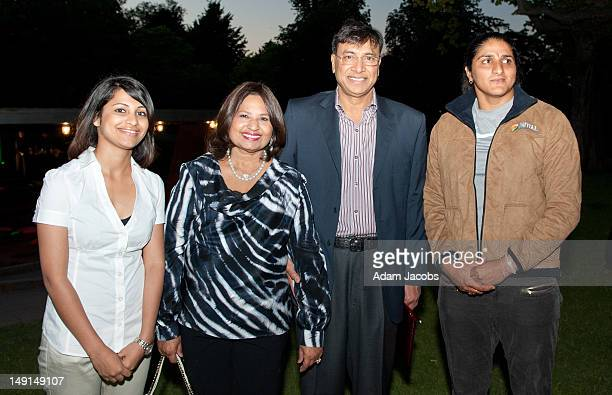 Heeva Sidhu Seema Antil and Lakshmi Mittal at the Mittal Trust Champions Event at The Serpentine Gallery on July 23 2012 in London England