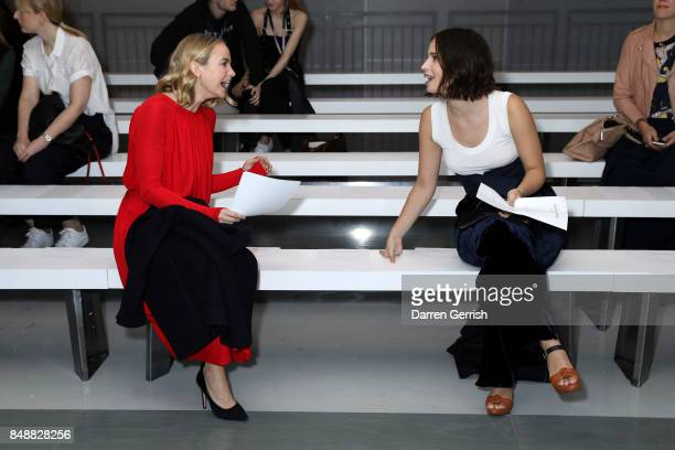 Heida Reed and Joanna Vanderham attend the Antonio Berardi show during London Fashion Week September 2017 on September 18 2017 in London England