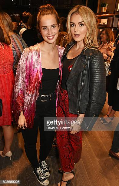 Heida Reed and Tallia Storm attend the first Oliver Peoples boutique launch in Europe on September 14 2016 in London England