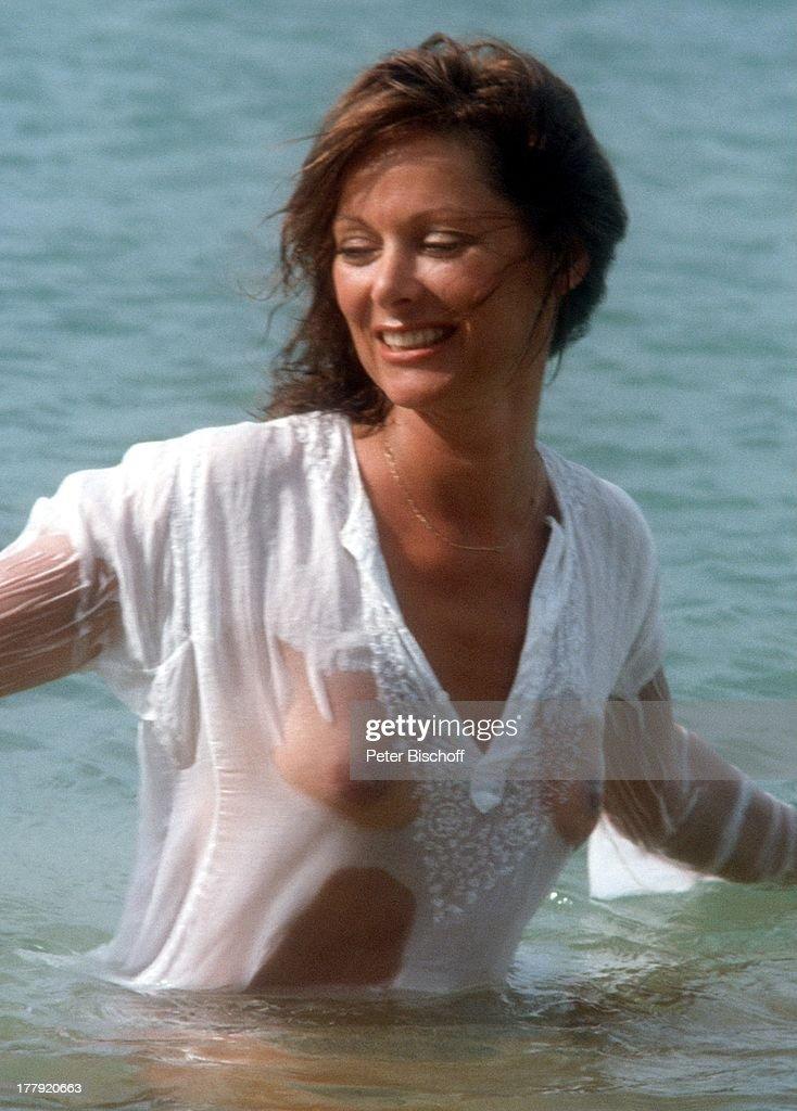 Heide Keller, am Rande der Dreharbeiten zur ZDF-Reihe