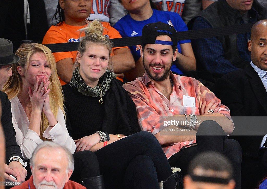 Heide Lindgren and Alexandra Richards attend the Phoenix Suns vs New York Knicks game at Madison Square Garden on December 2, 2012 in New York City.