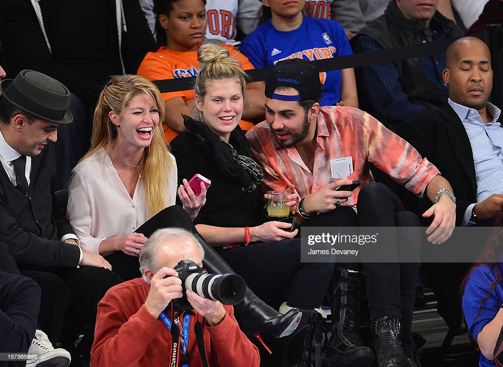 Heide Lindgren and <a gi-track='captionPersonalityLinkClicked' href=/galleries/search?phrase=Alexandra+Richards&family=editorial&specificpeople=213455 ng-click='$event.stopPropagation()'>Alexandra Richards</a> attend the Phoenix Suns vs New York Knicks game at Madison Square Garden on December 2, 2012 in New York City.