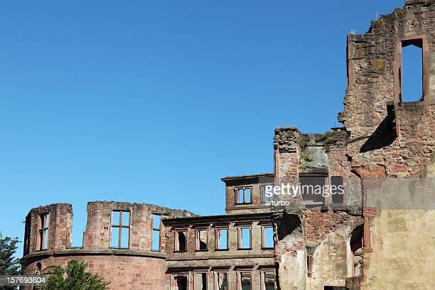 Heidelberg castle ruin facade