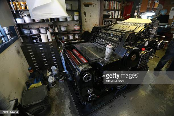 Heidelberg offset and letterset press Coach House Press is a small books publisher The press is housed in a couple old coach houses in an alley way...
