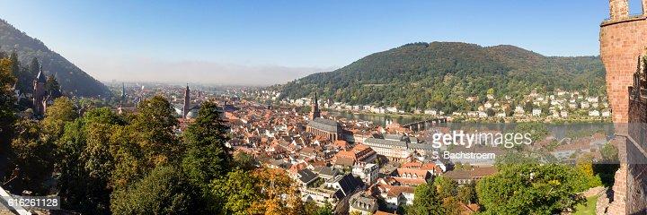 Heidelberg panorama in autumn : Foto de stock