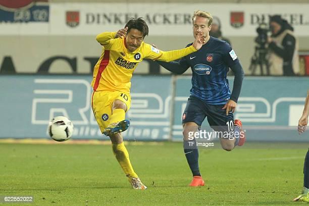 Heidenheim Germany 2 Bundesliga 2016/17 12 Spieltag FC Heidenheim vs Karlsruher SC Hiroki Yamada Bard Finne