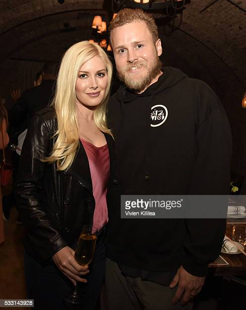 Heidi and Spencer Pratt attend Brody Jenner And Kaitlynn Carter's Engagement Dinner at Roku on May 20 2016 in West Hollywood California