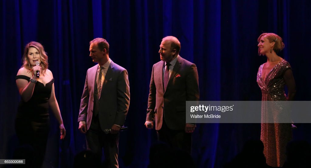 Heidi Blickenstaff, Jeff Bowen, Hunter Bell and Susan Blackwell perform at the Vineyard Theatre 2017 Gala at the Edison Ballroom on March 14, 2017 in New York City.