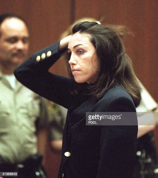 Heidi Fleiss the reputed 'Hollywood Madam to the Stars' who was convicted on pandering charges in late 1994 appears in court 30 January 1995 for a...