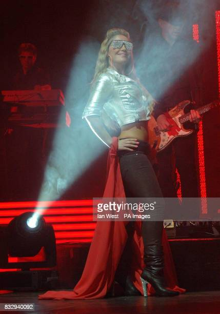 Heidi from The Sugababes performs at Wembley Arena in north London