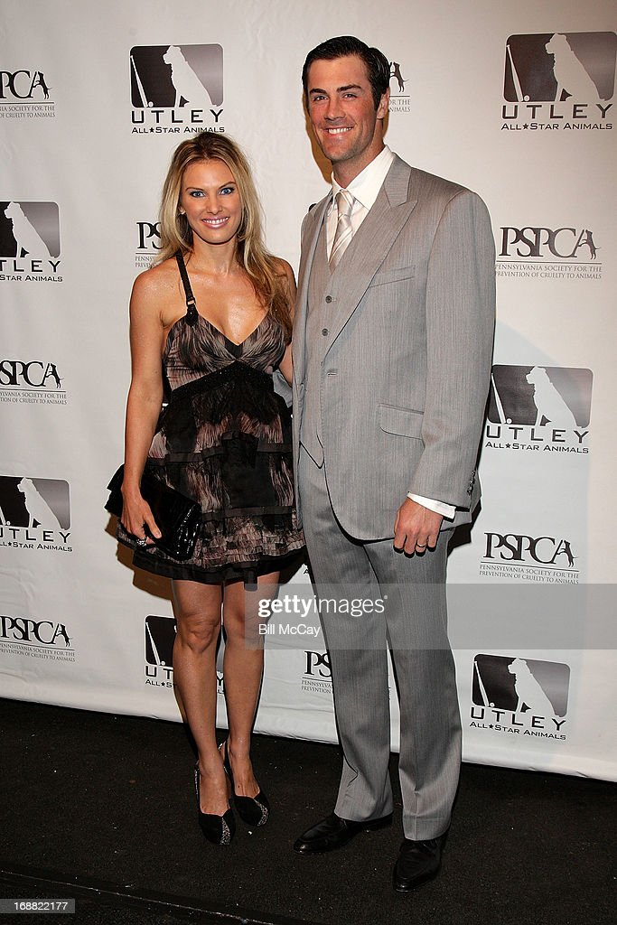 Heidi Hamels and <a gi-track='captionPersonalityLinkClicked' href=/galleries/search?phrase=Cole+Hamels&family=editorial&specificpeople=565675 ng-click='$event.stopPropagation()'>Cole Hamels</a> attend the 6th Annual Utley All-Star Animals Casino Night to benefit the Pennsylvania SPCA at The Electric Factory May 15, 2013 in Philadelphia, Pennsylvania.