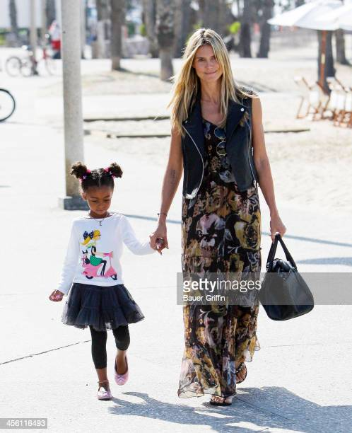 Heidi Klum and daughter Lou Sulola Samuel are seen on Santa Monica beach on September 14 2013 in Los Angeles California