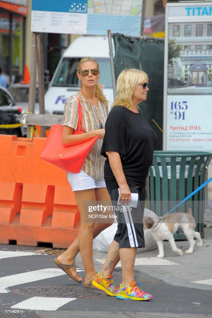 Heidi Klum and Ema Klum are seen on June 24, 2013 in New York City.