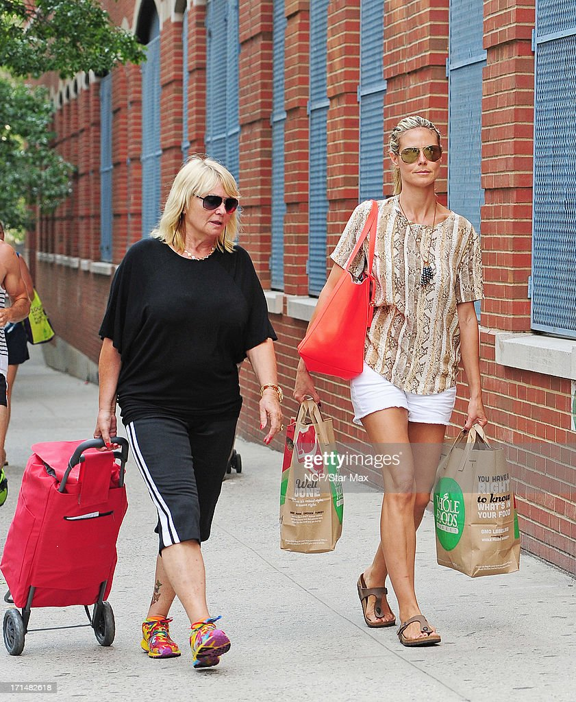 Heidi Klum and Ema Klum are seen on June 24, 2013 in New York City.