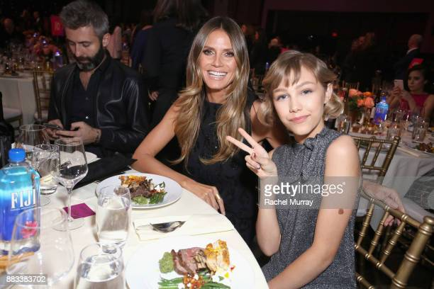 Heidi Klum and Grace VanderWaal attend Billboard's Women in Music 2017 presented in partnership with FIJI Water on November 30 2017 in Hollywood...