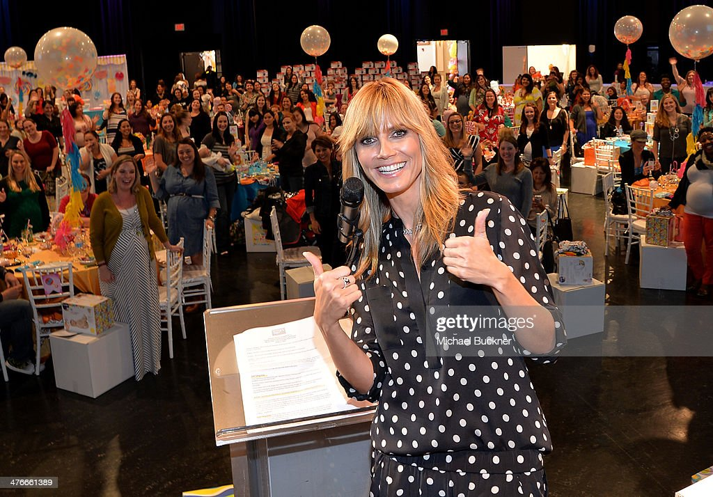 Heidi Klum and guests attend Operation Shower sponsored by Babies'R'Us event hosted by Heidi Klum at The Globe Theatre at Universal Studios on March...