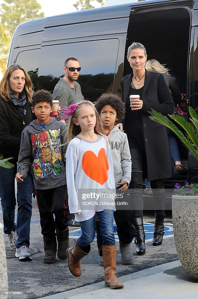 Heidi Klum (R) and Henry Samuel, Martin Kristen, Leni Samuel and Johan Samuel sighting on December 29, 2012 in Los Angeles, California.