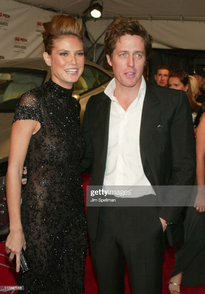 Heidi Klum and Hugh Grant during 2002 GQ Men of the Year Awards - Arrivals at Hammerstein Ballroom in New York City, New York, United States.
