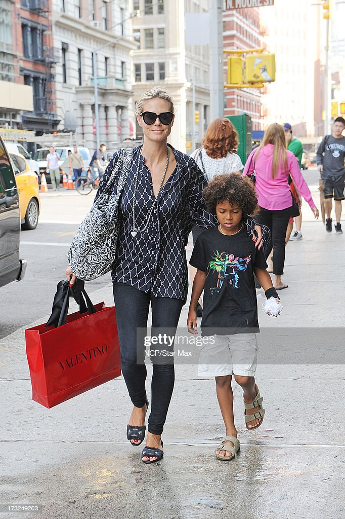 Heidi Klum and Johan Samuel as seen on July 10, 2013 in New York City.