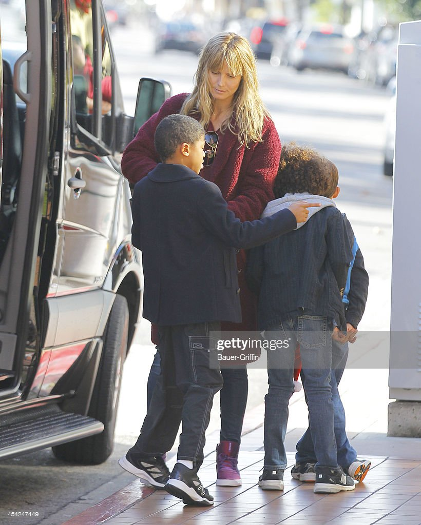 <a gi-track='captionPersonalityLinkClicked' href=/galleries/search?phrase=Heidi+Klum&family=editorial&specificpeople=178954 ng-click='$event.stopPropagation()'>Heidi Klum</a> and kids are seen on December 07, 2013 in Los Angeles, California.