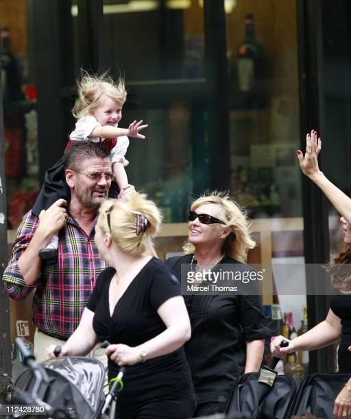 Heidi Klum and kids Leni Henry Gunther and Johan with grandparents Erna and Gunther Klum