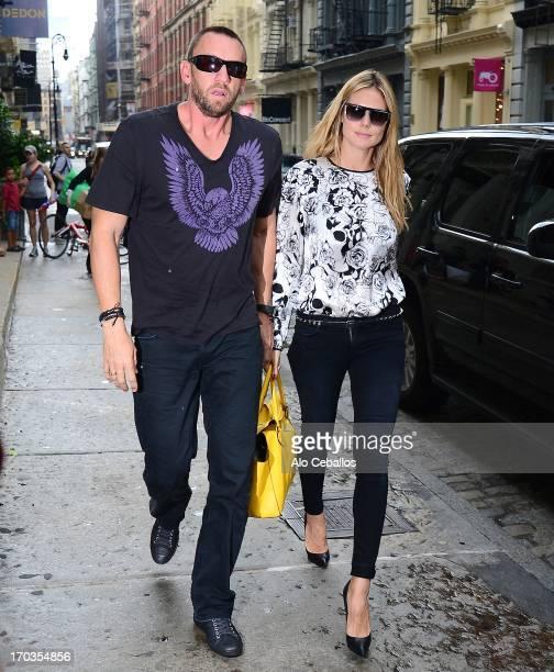 Heidi Klum and Martin Kristen are seen in Soho on June 11 2013 in New York City