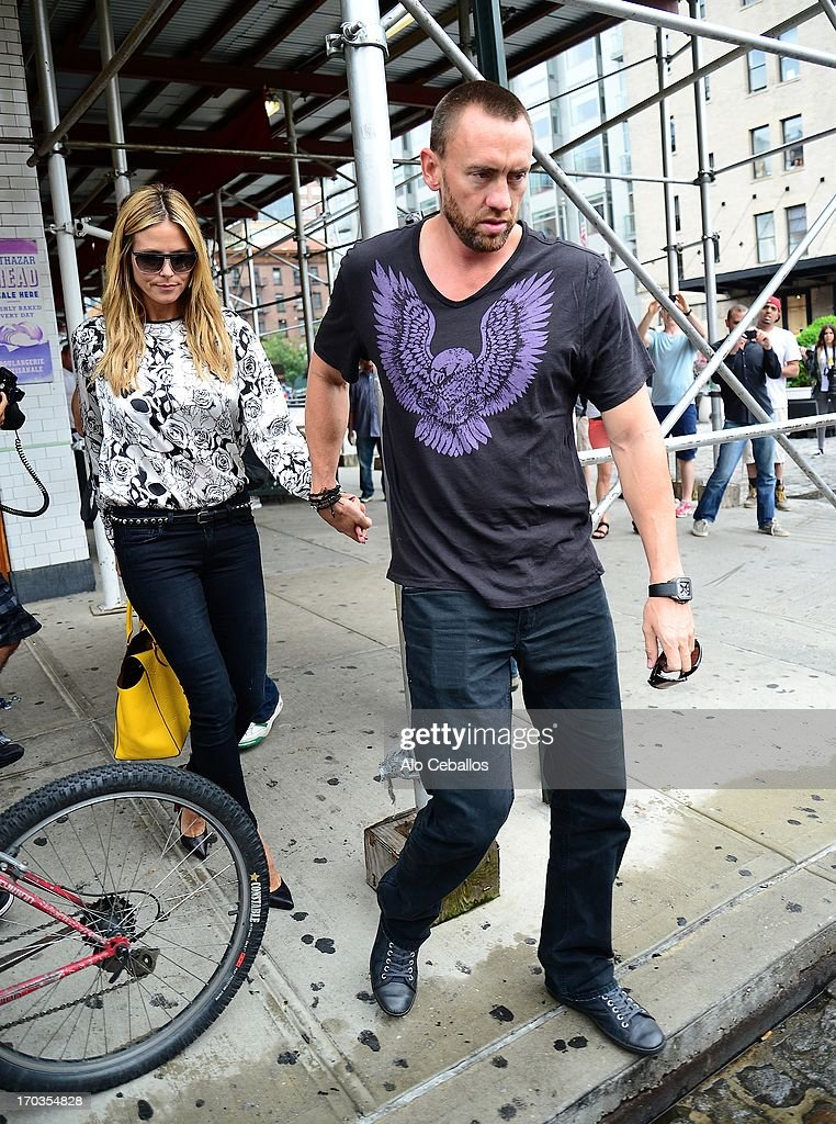 Heidi Klum and Martin Kristen are seen in the Meat Packing District on June 11 2013 in New York City