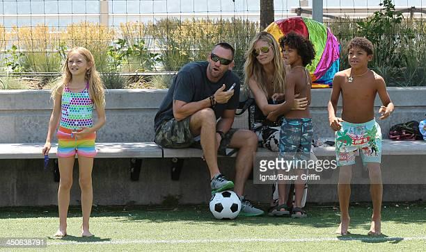 Heidi Klum and Martin Kristen with her children Leni Samuel Henry Samuel and Johan Samuel are seen on June 21 2013 in New York City
