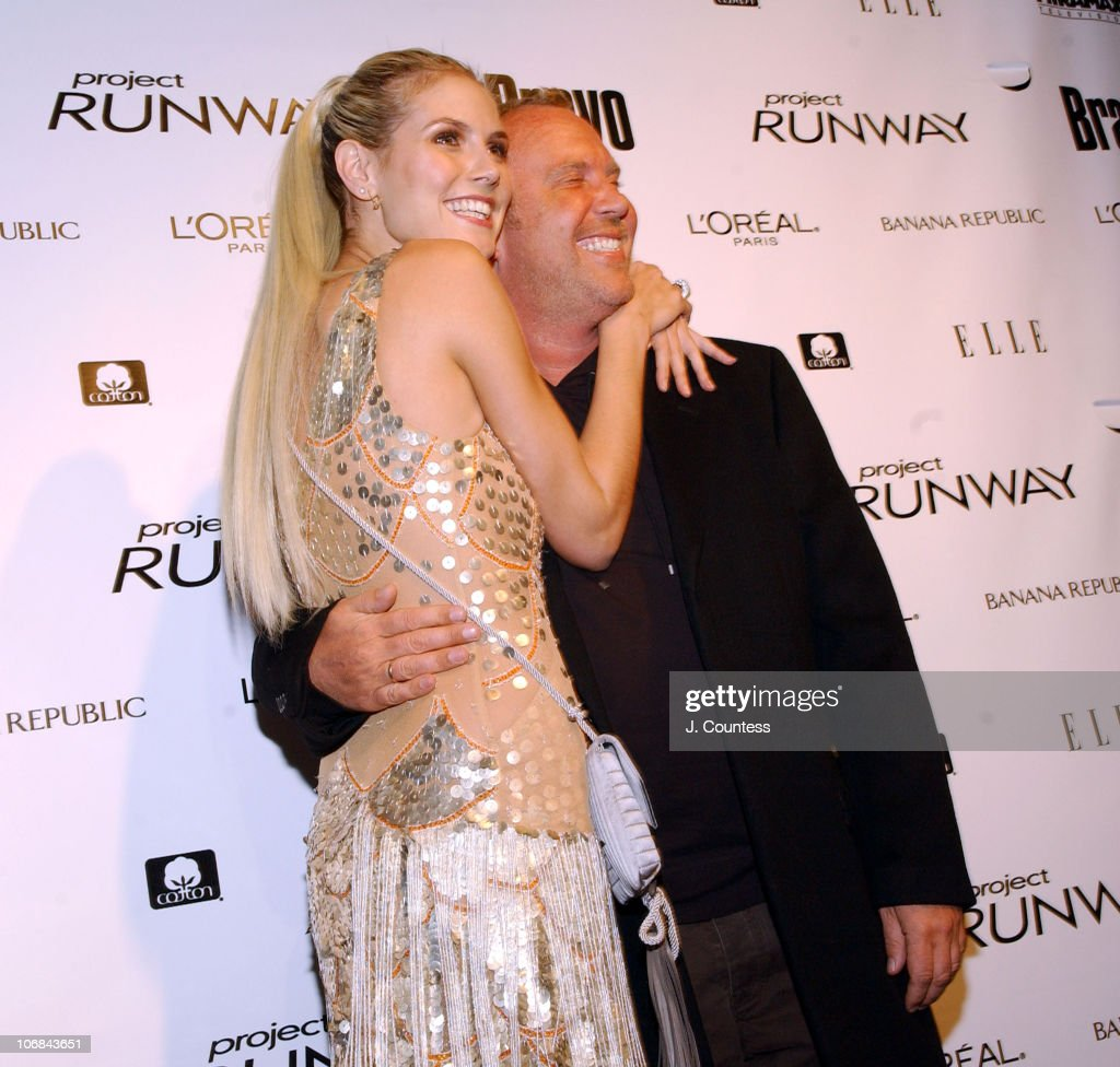 Heidi Klum and Michael Kors during Heidi Klum and Bravo Celebrate the Launch of the New Bravo Series 'Project Runway' After Party at PM Nightclub in...