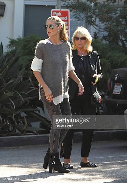 Heidi Klum and mother Erna Klum are seen on November 09 2013 in Los Angeles California