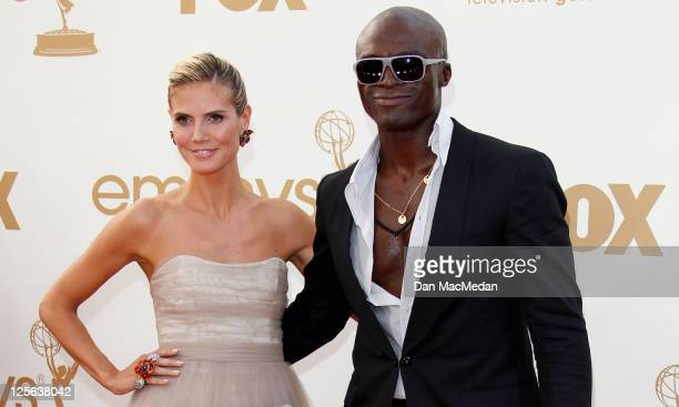 Heidi Klum and Seal arrive at the 63rd Primetime Emmy Awards held at Nokia Theatre LA Live on September 18 2011 in Los Angeles California