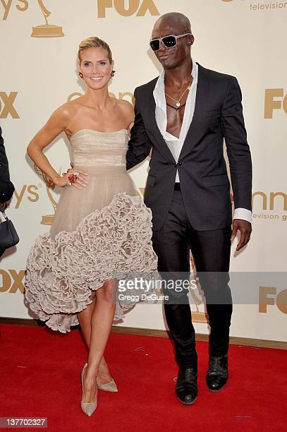 Heidi Klum and Seal arrive at the Academy of Television Arts Sciences 63rd Primetime Emmy Awards at Nokia Theatre LA Live on September 18 2011 in Los...