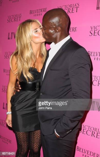 Heidi Klum and Seal arrive at Victorias Secret Show after party at LIV at Fontainebleau on November 14 2008 in Miami Beach Florida