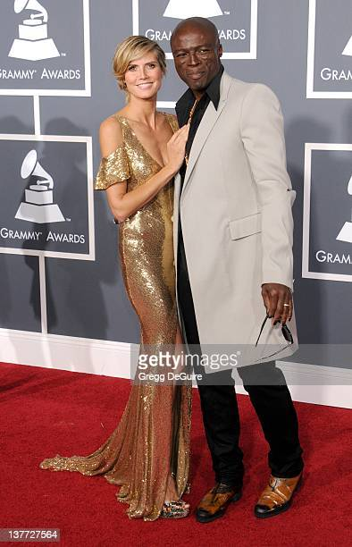 Heidi Klum and Seal arrive for the 53rd Annual GRAMMY Awards at the Staples Center February 13 2011 in Los Angeles California