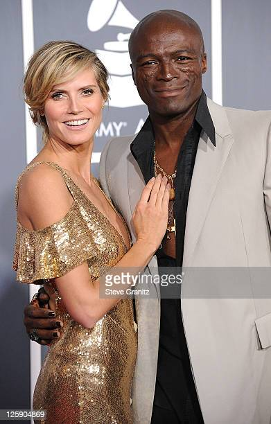 Heidi Klum and Seal arrives at The 53rd Annual GRAMMY Awards at Staples Center on February 13 2011 in Los Angeles California