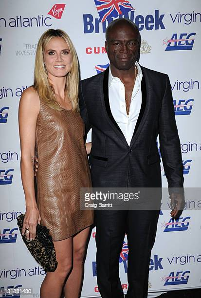 Heidi Klum and Seal attend BritWeek Gala Dinner Benefiting LA's BEST 'Joy Of Reading' at LA Live Event Deck on April 28 2011 in Los Angeles California
