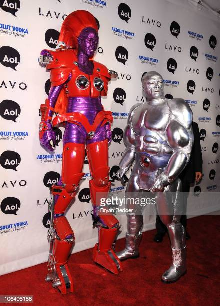 Heidi Klum and Seal attend Heidi Klum's 2010 Halloween Party at Lavo on October 31 2010 in New York City