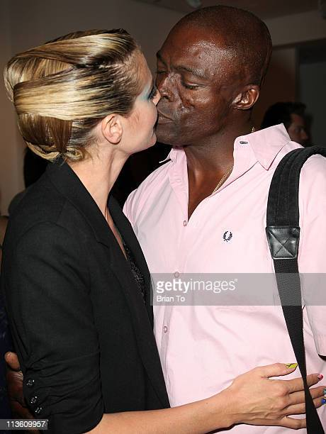 Heidi Klum and Seal attend 'Rankin's Rubbish' photographic exhibition opening night reception at Rankin Gallery on May 3 2011 in Los Angeles...