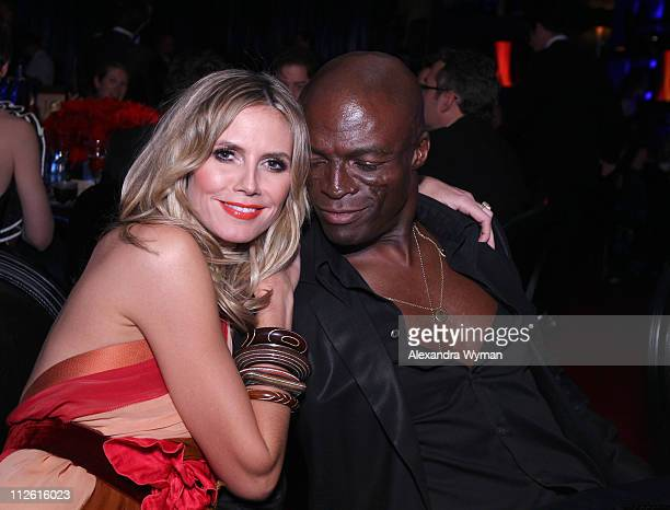 Heidi Klum and Seal attend the InStyle and Warner Bros 68th annual Golden Globe awards postparty at The Beverly Hilton hotel on January 16 2011 in...