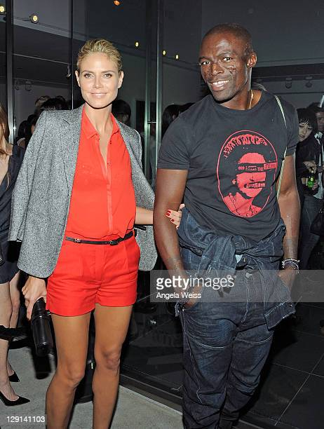 Heidi Klum and Seal attend the Rankin and Damien Hirst Show opening night of 'Myths Monsters And Legends' at Rankin Gallery on October 12 2011 in Los...