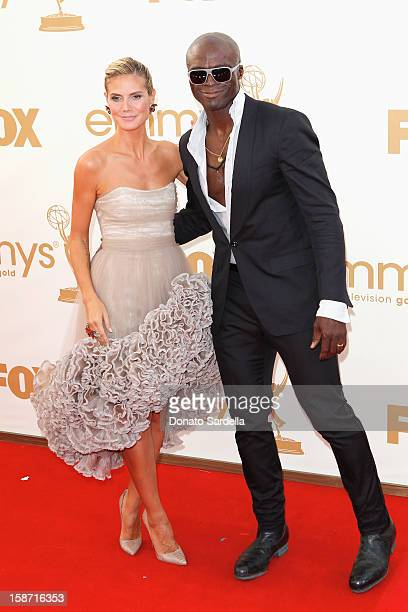 Heidi Klum and Seal attends the 63rd Annual Primetime Emmy Awards held at Nokia Theatre LA LIVE on September 18 2011 in Los Angeles California