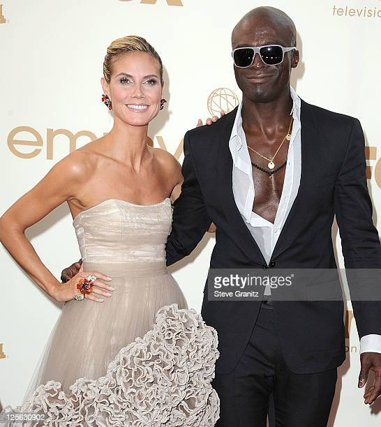 Heidi Klum and Seal attends the 63rd Primetime Emmy Awards on September 18 2011 in Los Angeles United States