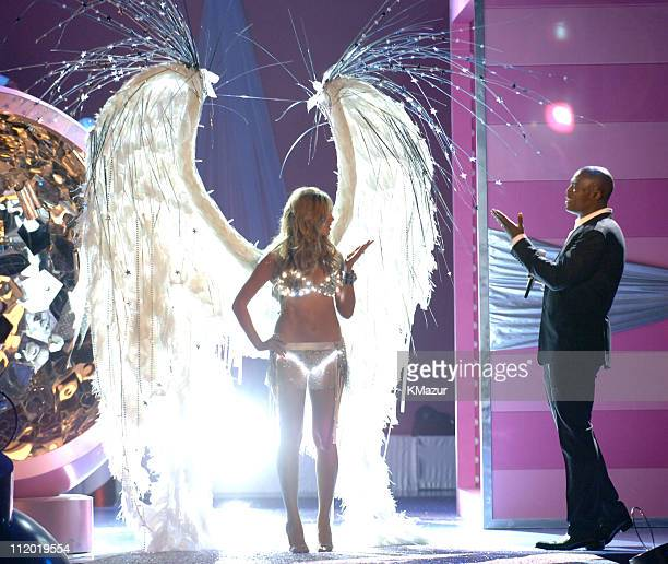 Heidi Klum and Seal during 10th Victoria's Secret Fashion Show Runway at The New York State Armory in New York City New York United States