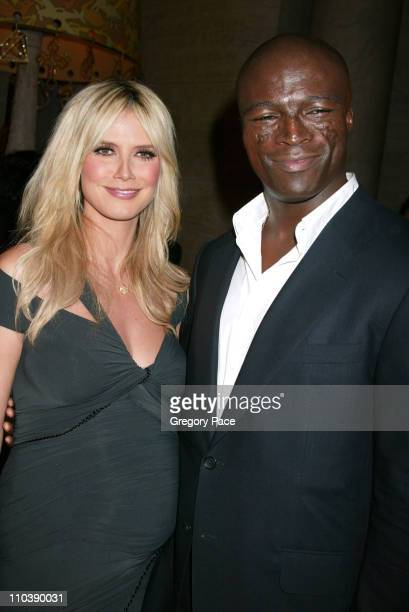 Heidi Klum and Seal during 2005 CFDA Fashion Awards Inside at New York Public Library in New York City New York United States