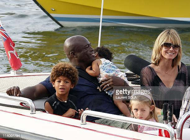 Heidi Klum and Seal in St Tropez France On August 02 2010Heidi Klum Seal and their children in St Tropez