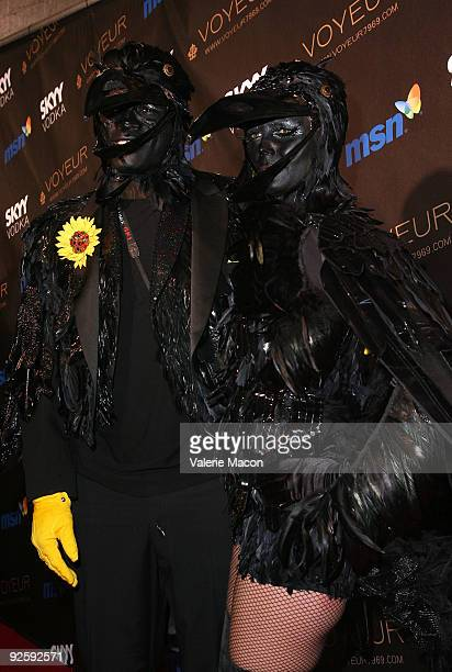 Heidi Klum and singer Seal arrive at the Heidi Klum's 10th Annual Halloween Party on October 31 2009 in Los Angeles California