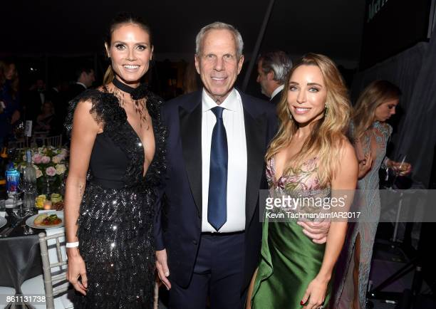 Heidi Klum and Steve Tisch at amfAR Los Angeles 2017 at Ron Burkle's Green Acres Estate on October 13 2017 in Beverly Hills Californi