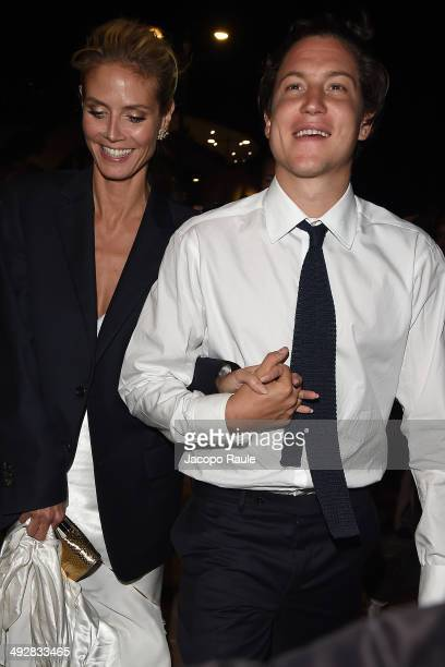 Heidi Klum and Vito Schnabel are seen on day 8 of the 67th Annual Cannes Film Festival on May 21 2014 in Cannes France