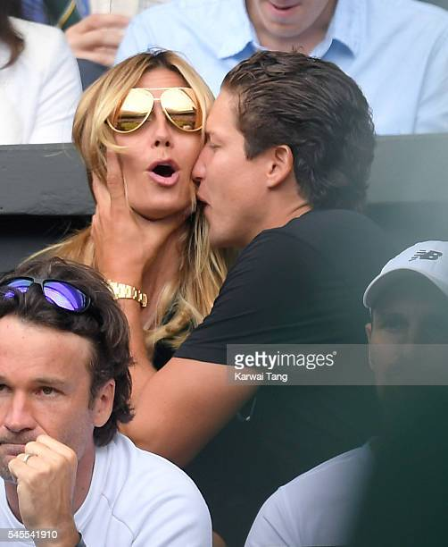 Heidi Klum and Vito Schnabel attend day eleven of the Wimbledon Tennis Championships at Wimbledon on July 08 2016 in London England